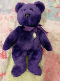 Bear purple ~ TY ( 34cm)
