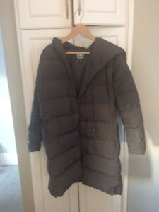 ROOTS Canada Womens down-filled parka color grey, size Med OBO