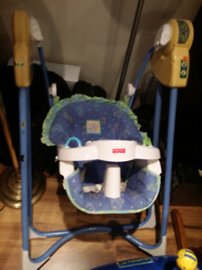 Baby Swing, baby jumper, vibrating chair, bath chair..N more