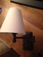 Set of 2 Plug-In Swing Arm Wall Lamps