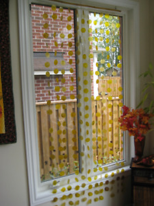 Yellow Wind Chime Curtain