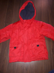 Red winter coat size 3