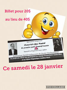 Billets de spectacle de Guy Nantel