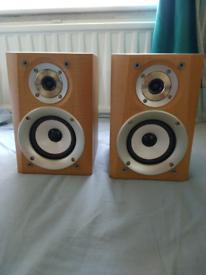Sharp wooden speakers