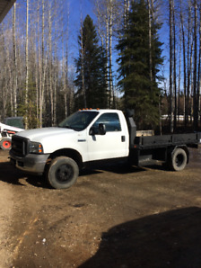 2005 FORD F-350 4x4 FLAT DECK ONE TON TRUCK FOR SALE