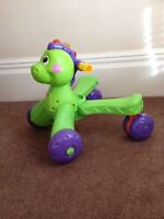 Fisher Price Stride to Ride Dinosaur (walker and ride-on(