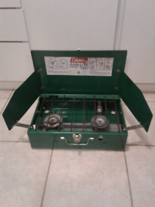 Coleman Camping Stove shell NO TANK In mint condition.
