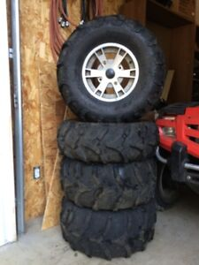 CAN-AM take off wheels and Mud tires $300