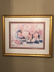 Peonies and Lace framed numbered print 143/400 Mary Dawn Roberts