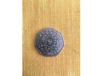 Rare 50p coin. 2011 WWF. Make me an offer