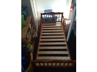 Pine toddler bed.