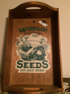 Vintage Reproduction Seeds Tray
