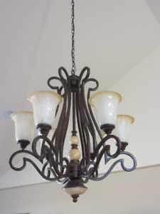 "6 Light Chandelier with 72""chain"