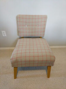 Retro, newly reupholstered chair.
