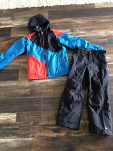 Ride snowboard jacket and Helly Hansen pants