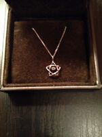 14 KT White Gold with Diamond Pendant- Worn Once!