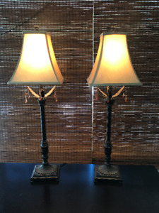 Like New Beautiful Table and Floor Lamps