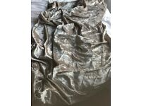 Crushed velvet pencil pleat lined curtains 44 x 72 taupe