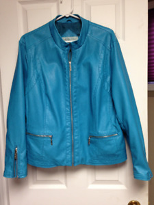 CLEO FAUX LEATHER JACKET