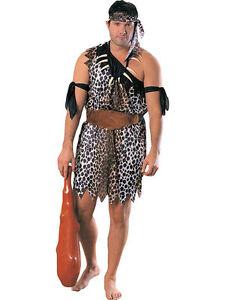New Jungle Caveman Costume Fancy Tarzan Ancient Stone Age Party Dress Up