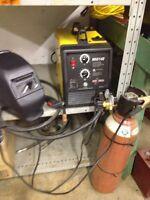 Mig welding machine c/w Argon tank