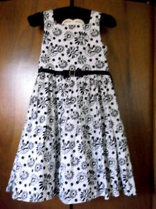girls 14/womens xs black and white Easter dress