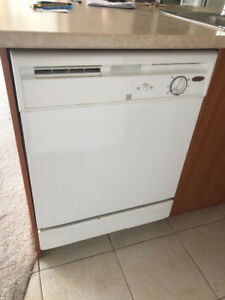 "quick sale white 24"" under counter dishwasher fully working"