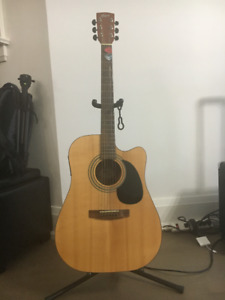 Cort MR-100F Acoustic Electric Guitar With Carrying Case. OBO