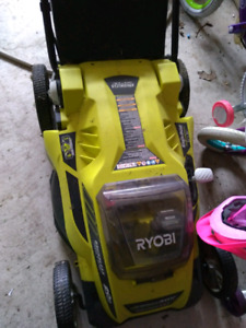 Ryobi 40v electric lawnmower with 2 batteries  and charger