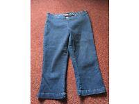 3/4 length skinny jeans