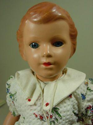 P1012/ Alte Schildkröt Puppe Gustel ca. 28 cm. um 1955