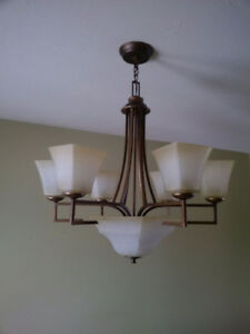 7-Light Shaded Chandelier