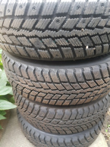 185/65/14 99% TREAD WINTERS WITH RIMS