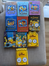 Complete set of The Simpsons DVDs, seasons 1-10