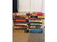 Lots of PC programming related textbooks. Java perl ruby