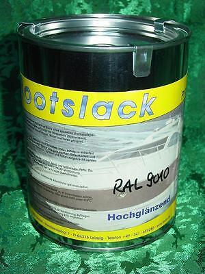 FESTA Bootslack Bootsfarbe Yachtlack Hochglanz RAL 9010 reinweiß 1 ltr