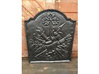 £40 postage Old Cast Iron Backplate Fire Back For Fire Grate Open Fire Inglenook
