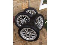 "BBS Split Rims Alloy Wheels 15"" 4x100 et45 VW Fitment Mk1 Mk2 Golf Polo"