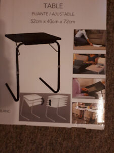 Brand new in box adjustable table $15.00 WHITE not black