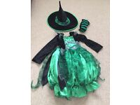 Girls witch Halloween costume. Age 8-9 years.