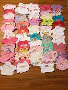 Large lot of 0-3 month girl clothes