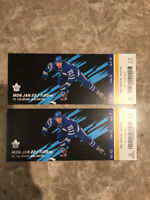 HOCKEY GAME GOLD TICKETS, MAPLE LEAFS vs COLORADO AVALANCHE