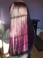 Hair extensions! Fusion, tape ins, Nano link best service.