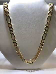 NEW MEN'S 10K YELLOW GOLD SOLID FIGARO CHAIN ON SALE NOW !!!!!