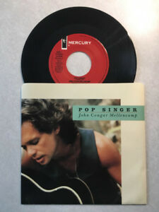 "John Cougar Mellencamp ""POP SINGER"" 7"" Vinyl 45 (1989 Issue)"