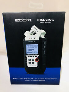 ZOOM H4N PRO Digital 4 Trk Recorder w/Effects & Access. NEW