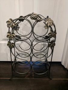 Metal wine rack - $10