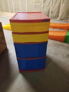 4 drawer plastic  stand