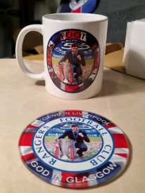 Personalised cup and glass coaster