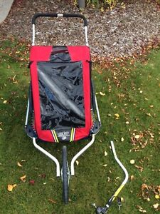 Genuine Chariot CTS Double Stroller with Bicycle attachment